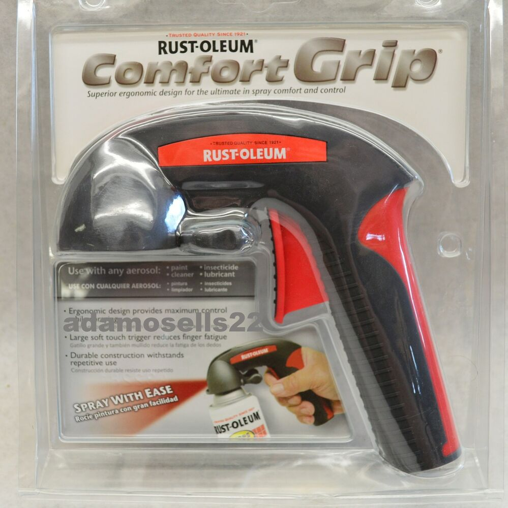 new rust oleum comfort grip aerosol spray paint can trigger tip handle. Black Bedroom Furniture Sets. Home Design Ideas