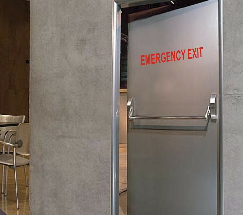 Emergency Exit Decal Vinyl Door Sticker Business Store