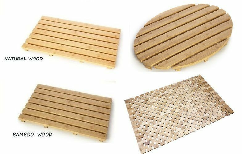 Natural Bamboo Wood Duck Board Wooden Large Bath Shower