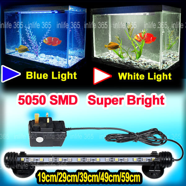 Aquarium fish tank submersible led light bar lighting lamp for Fish tank led light bar