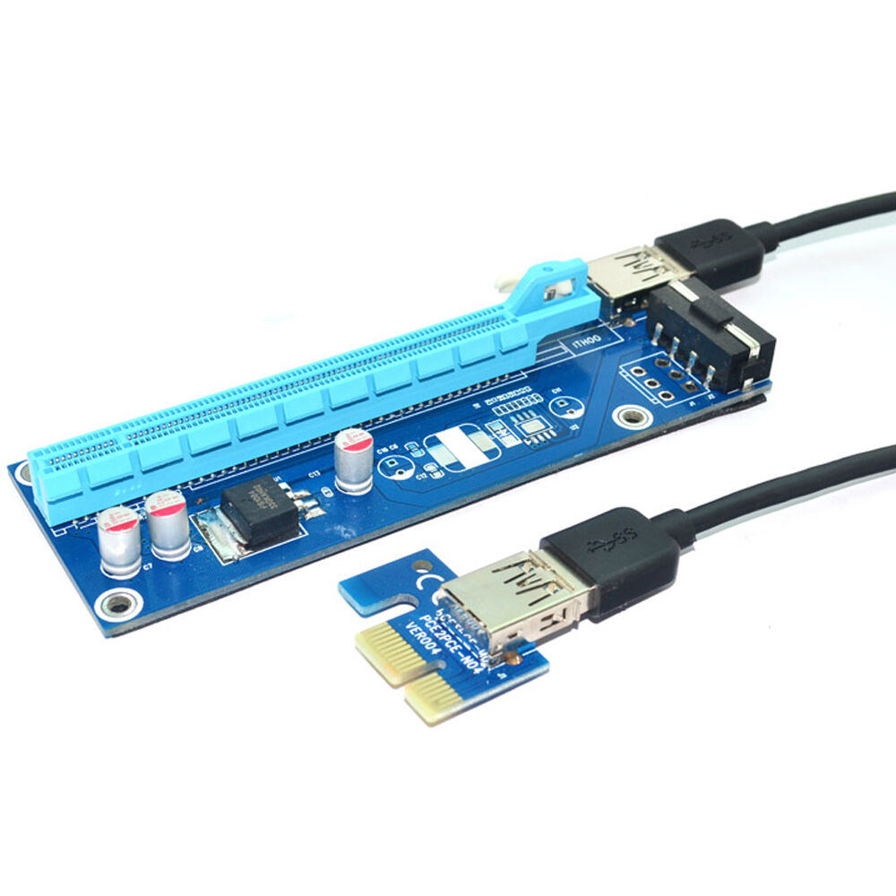 PCI-e 1x to 16x slot adapter riser for PCI Express ...