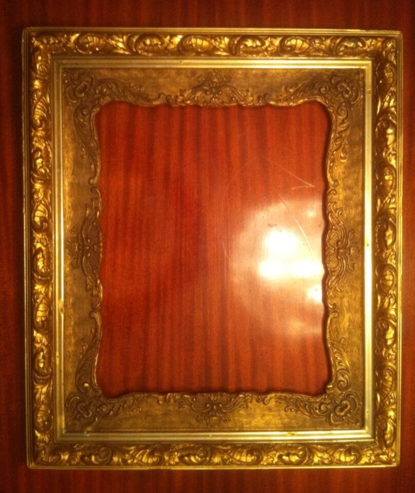 Large victorian solid wood picture frame for oil paintings for Large a frame