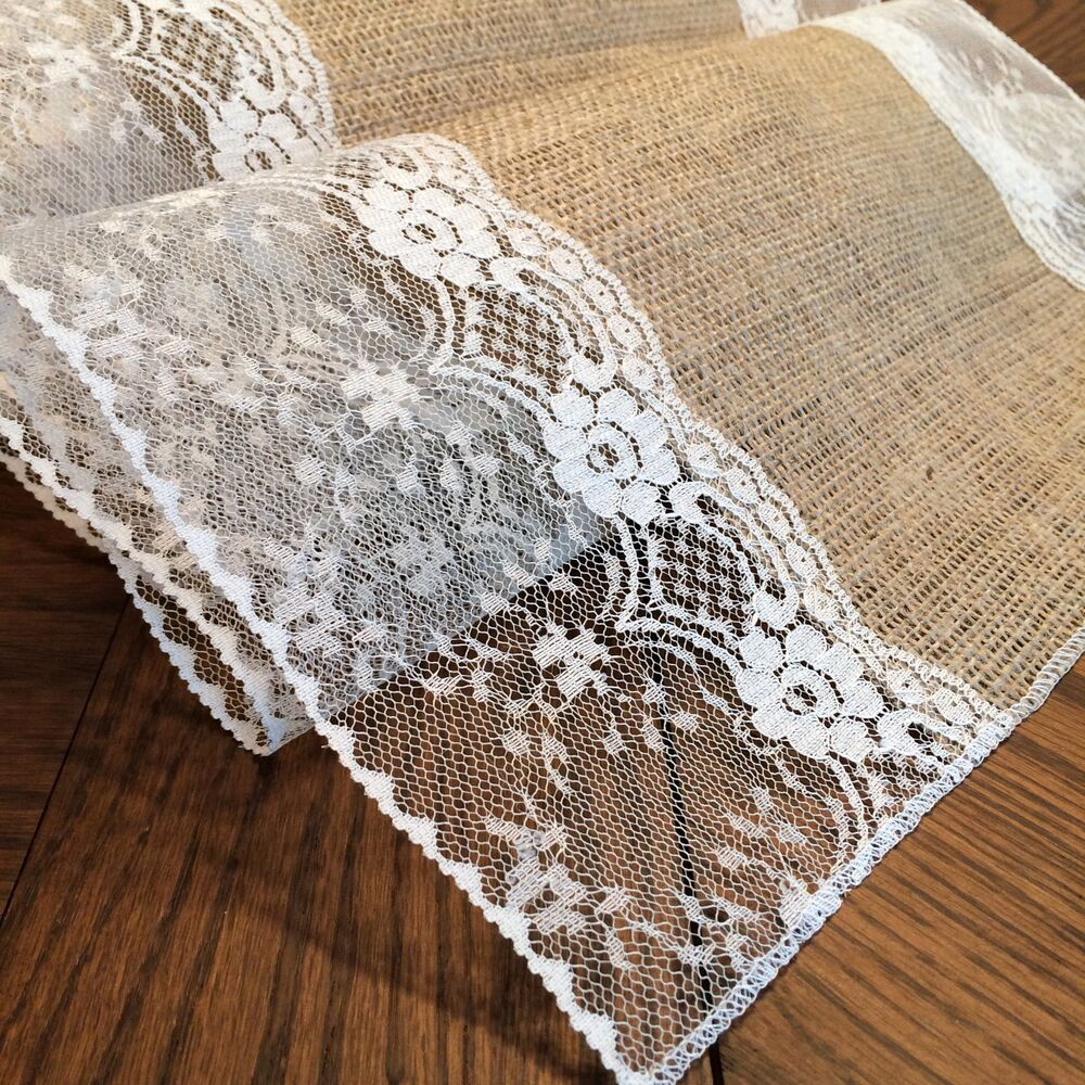 "Shabby-Chic Burlap and Lace Table Runners! (with ""Eliza ..."