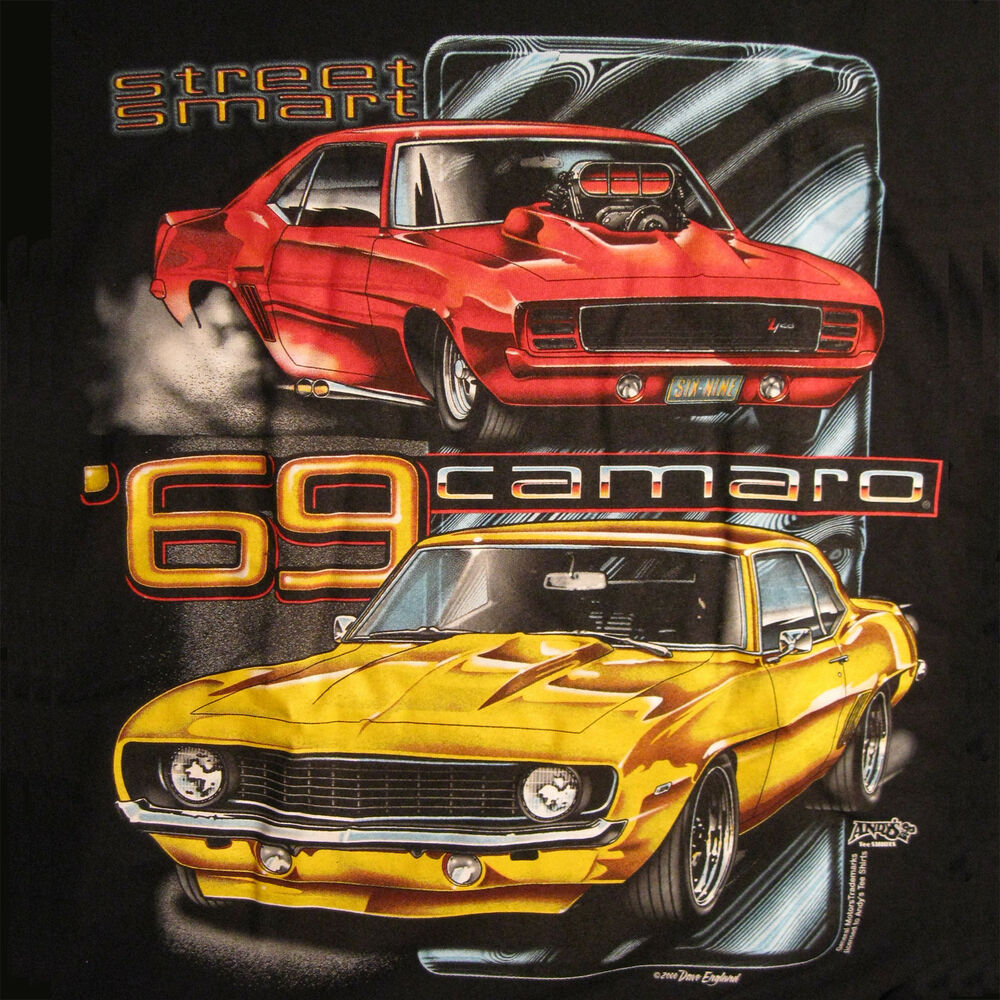 1969 Camaro T Shirt Super Sport Pro Street Chevy Muscle