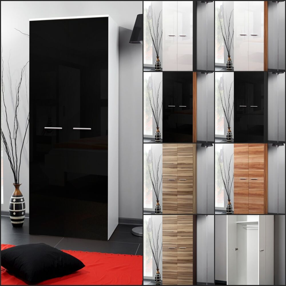 garderobe schlafzimmer schrank kleiderschrank 2 t rig hochglanz top design neu ebay. Black Bedroom Furniture Sets. Home Design Ideas
