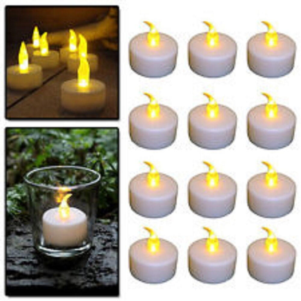 flameless candles flickering led tea light candles battery tealights. Black Bedroom Furniture Sets. Home Design Ideas