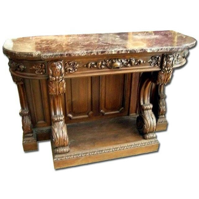 Victorian Coffee Table Furniture: Victorian Console Table With Marble Top #6984