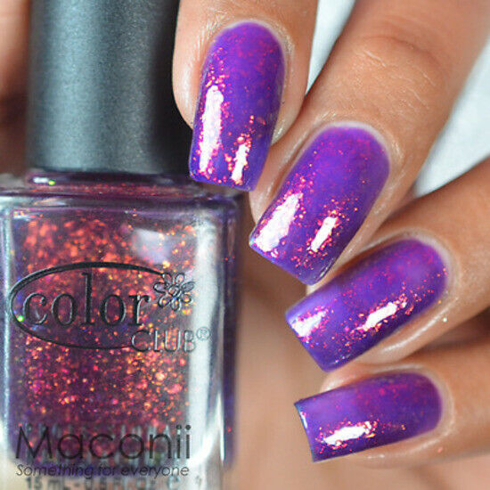 Who Sells Color Club Nail Polish: Purple Jelly Base Flakie Nail
