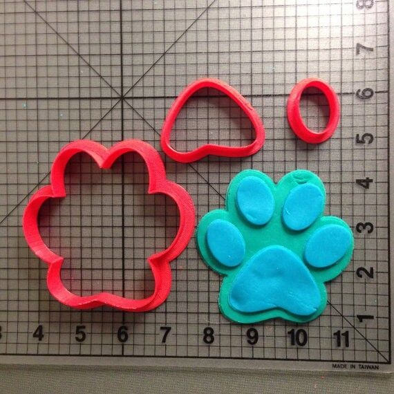 Dog Paw Cookie Cutter Set | eBay