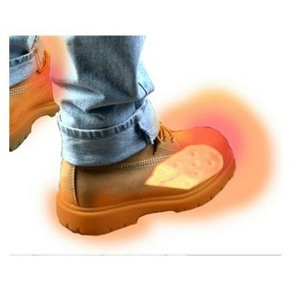 2 Battery Electric Feet Heated Shoe Boot Insoles Inserts