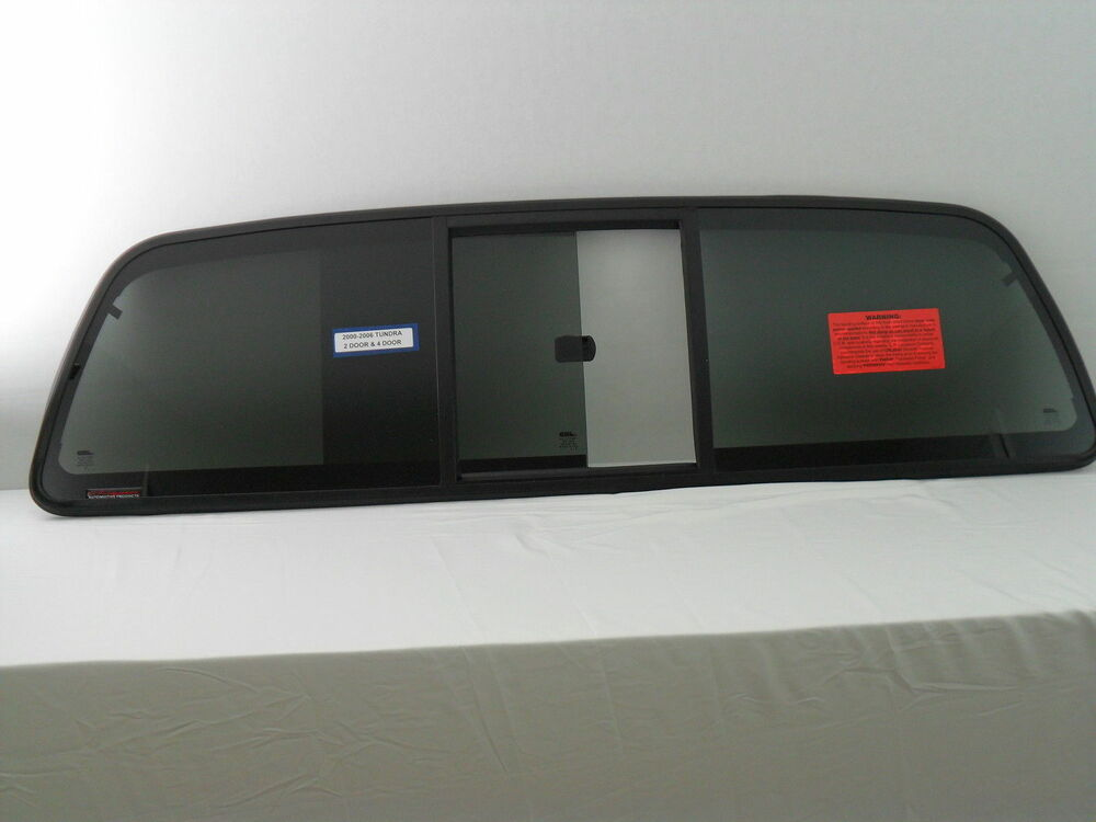For 00 06 Toyota Tundra 2 Amp 4 Door Sliding Back Glass Rear