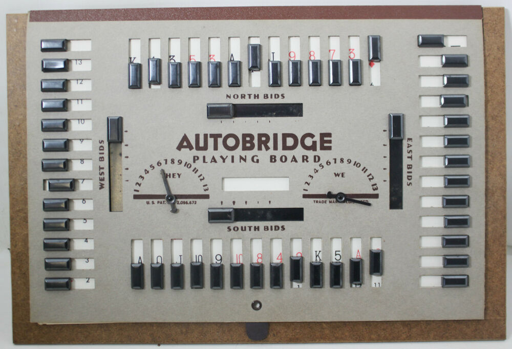 Vintage Autobridge Game With Bridge Cards Ebay