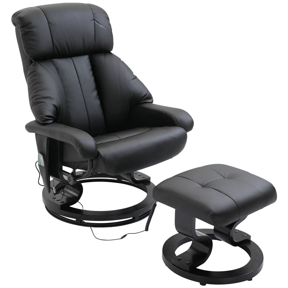 Electric Massage Chair Sofa Foot Stool 10 Point Massager