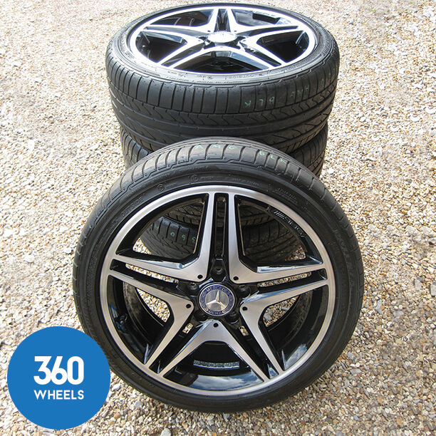 Genuine mercedes benz 18 amg 5 double spoke alloy wheels for Mercedes benz mag wheels