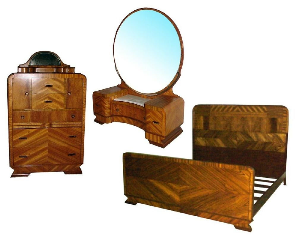 Art Deco Bed Set C 1930 4569 EBay