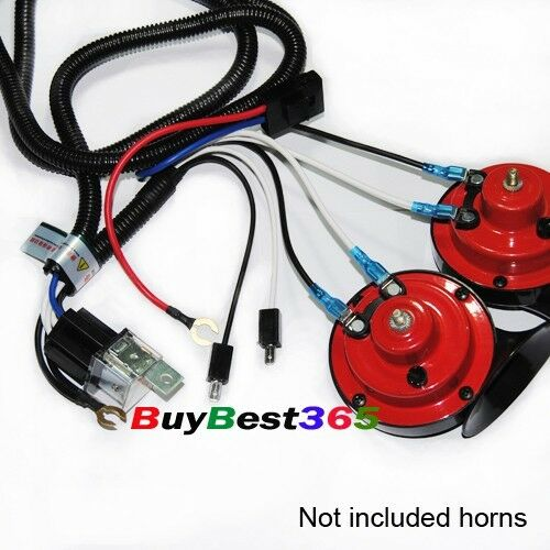 Horn Relay Wiring Harness : V super tone horn wiring harness kit controller relay