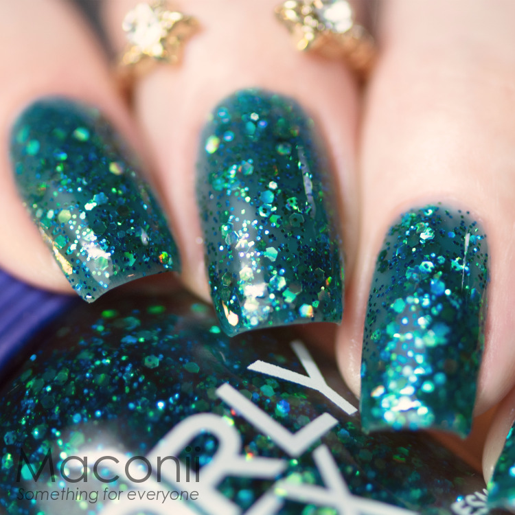 Green Glitter Nail Polish Uk: Sheer Green Base With Aqua Shimmery