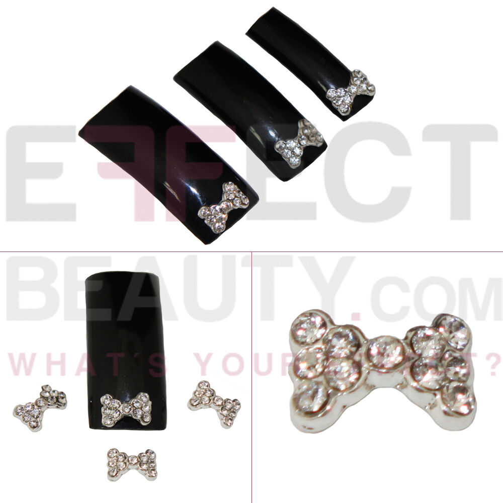 3d metal nail art decorations with rhinestones 3d nail for 3d nail decoration