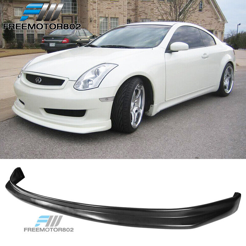 for 03 06 infiniti g35 coupe nis style front bumper lip. Black Bedroom Furniture Sets. Home Design Ideas