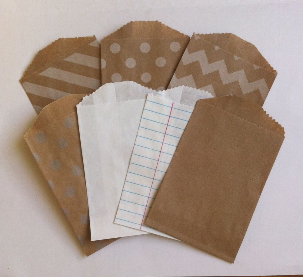 25 Little Bitty Bags Mini Paper Bags Party Favour Sweet
