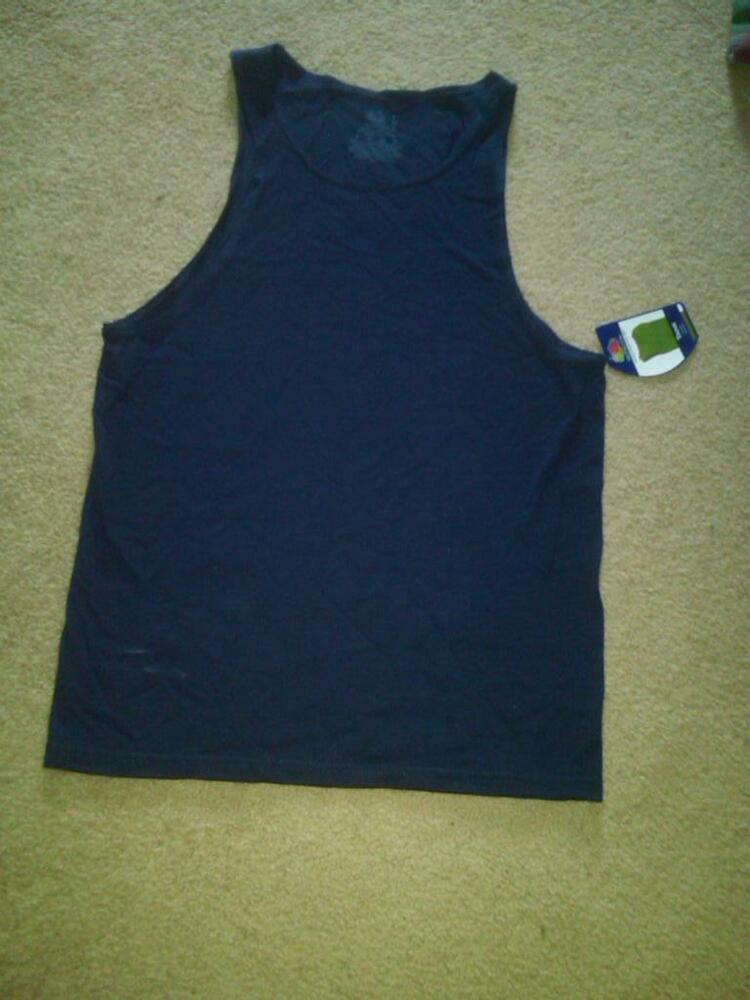 Nwt Mens Fruit Of The Loom Navy Blue Tank Tops T Shirts