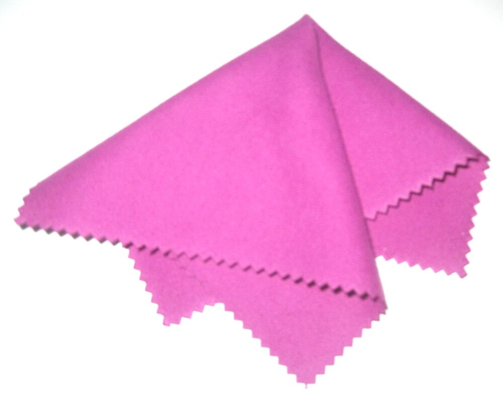 lot of 4 pink microfiber cleaning cloth for glasses