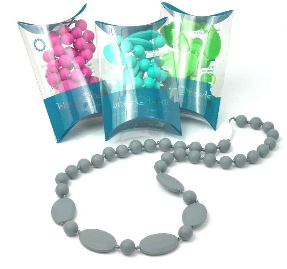 silicone teething nursing necklace chew