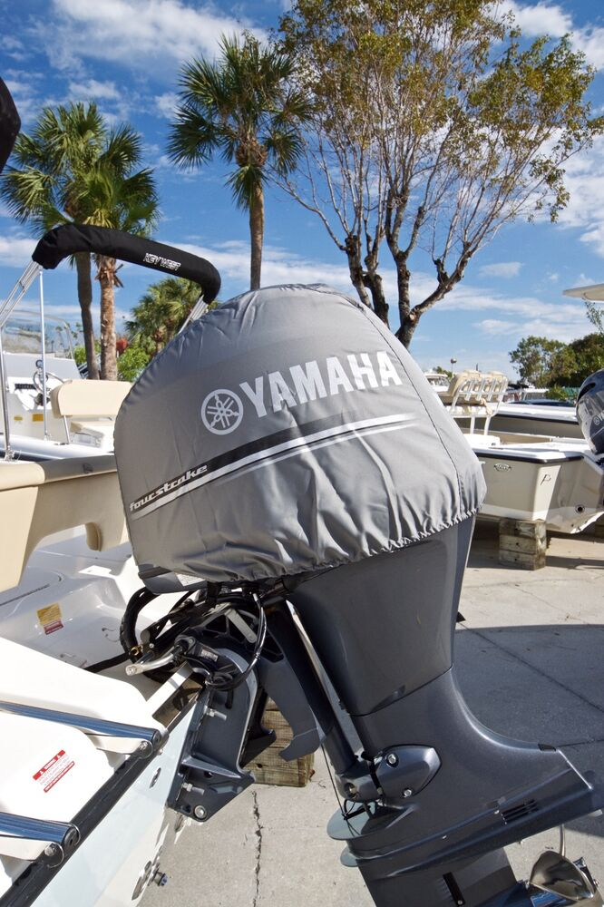 Yamaha outboard motor cover fits f80 f90 f100 f115 mar for Yamaha boat cover