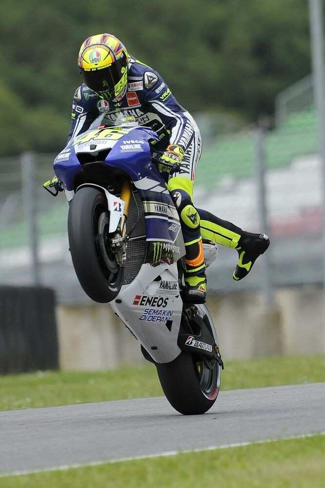Valentino Rossi Wheelie Superbikes Sport Moto GP Large Poster Wall Decoation Boy | eBay