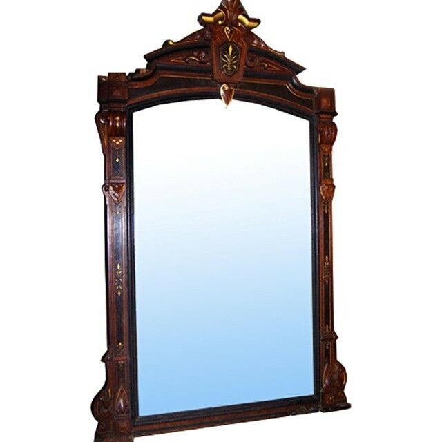 Victorian wall or mantel mirror 6948 ebay for Fireplace mirrors