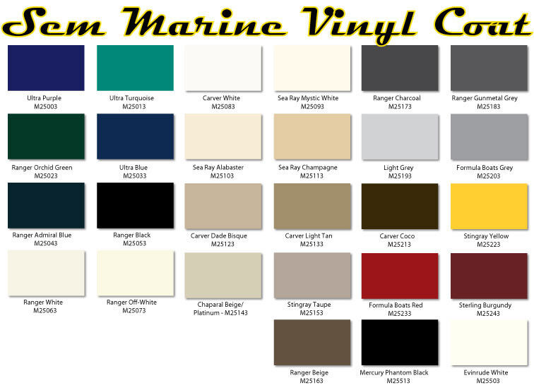 sem marine material dye sem marine vinyl coat changes or renews marine vinyl ebay. Black Bedroom Furniture Sets. Home Design Ideas