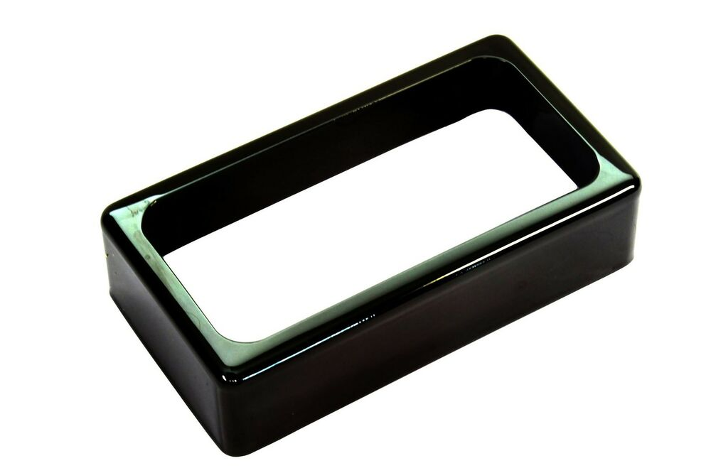open humbucker pickup covers jet black nickel ebay. Black Bedroom Furniture Sets. Home Design Ideas