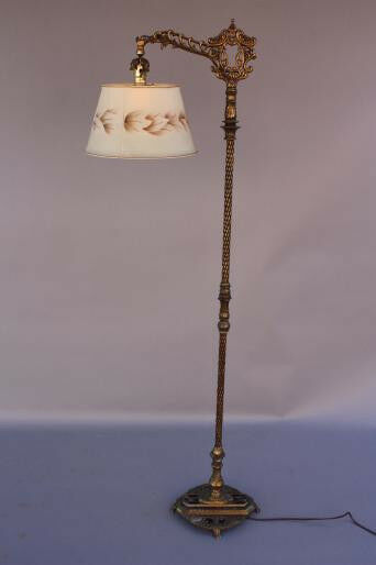 1920s Bridge Floor Lamp Light Spanish Revival Italian