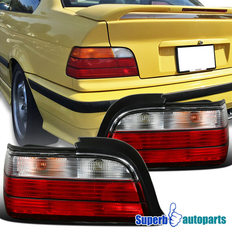 1992 1998 bmw e36 3 series 2dr tail lights brake lamps red. Black Bedroom Furniture Sets. Home Design Ideas