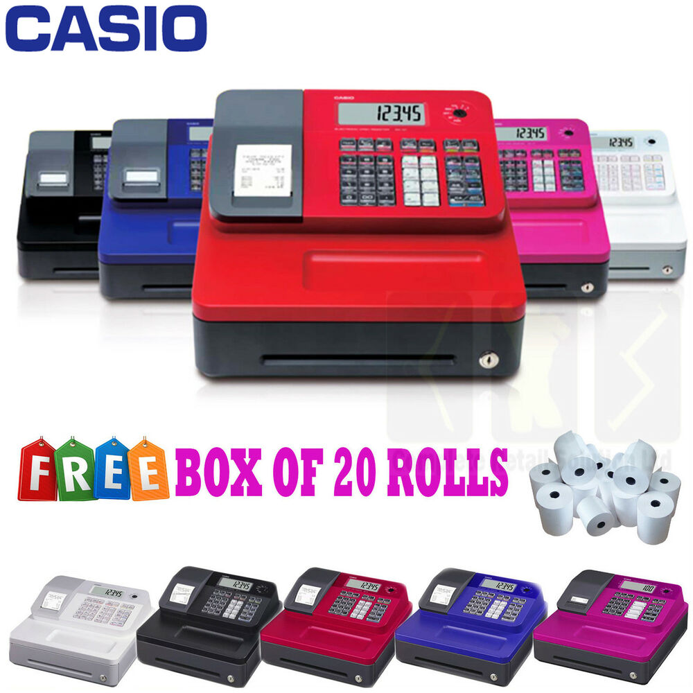 new casio electronic se g1 cash register shop till thermal printer 20 free rolls ebay. Black Bedroom Furniture Sets. Home Design Ideas