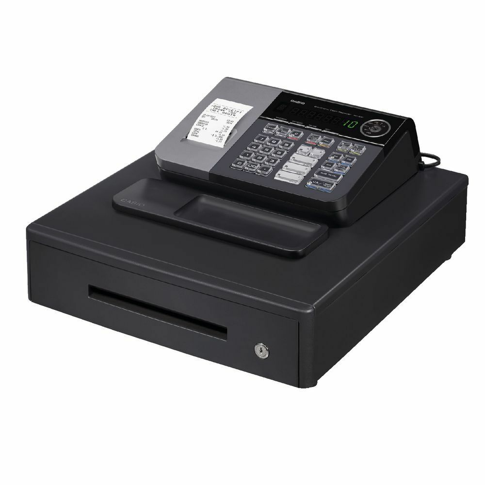 new casio electronic se s10 cash register shop till thermal printer 20 free roll ebay. Black Bedroom Furniture Sets. Home Design Ideas