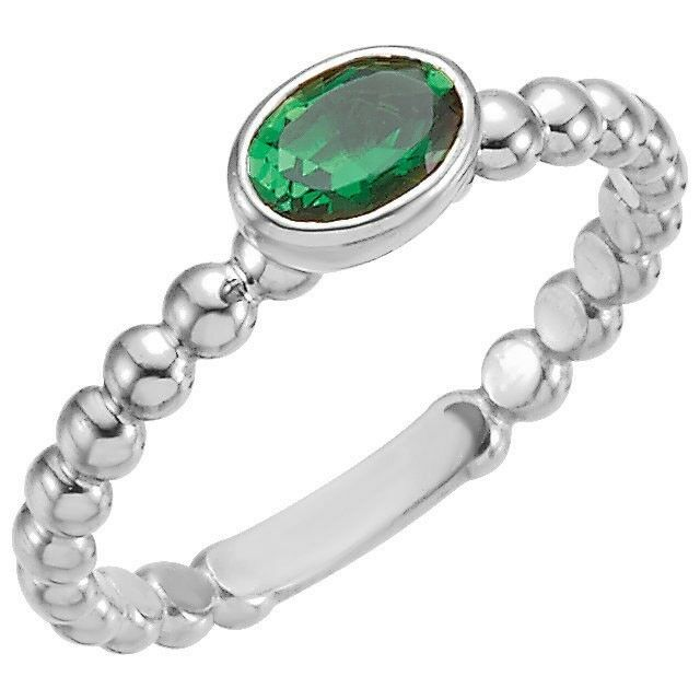 sterling silver stackable 1 oval birthstones mothers ring
