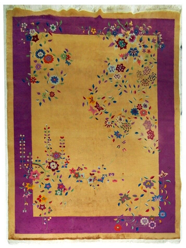 Beautiful Vintage Chinese Art Deco Rug C 1920 5213 Ebay