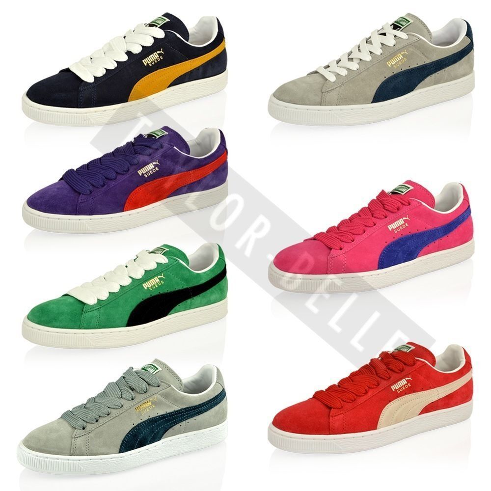 mens boys puma suede leather classic skate sport trainers shoes size ebay. Black Bedroom Furniture Sets. Home Design Ideas
