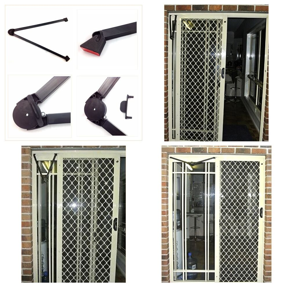 Sliding insect screen door closer glass reinforced for Sliding glass door screen