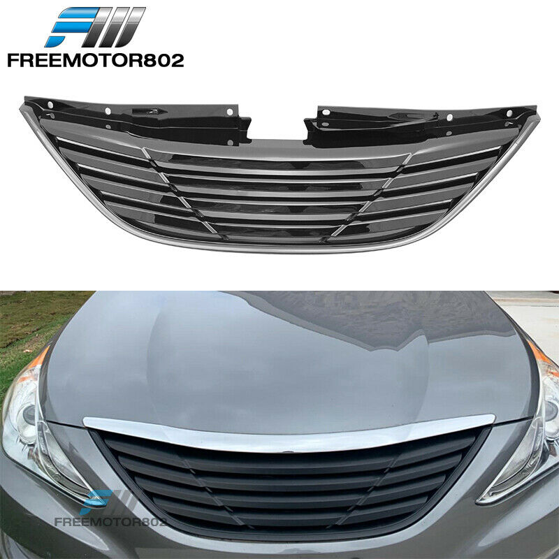For 2011 2014 Hyundai Sonata Front Upper Bumper Hood Grille Horizontal Style Ebay