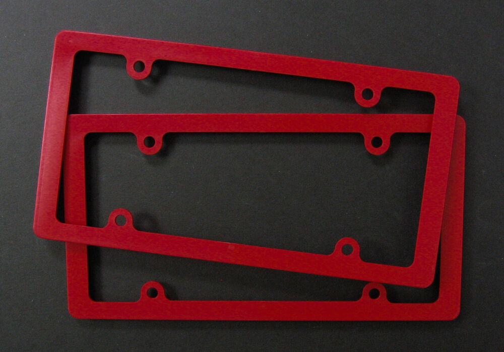 Lot Of 20 Thin Rim Blank License Plate Frame Ez View Red