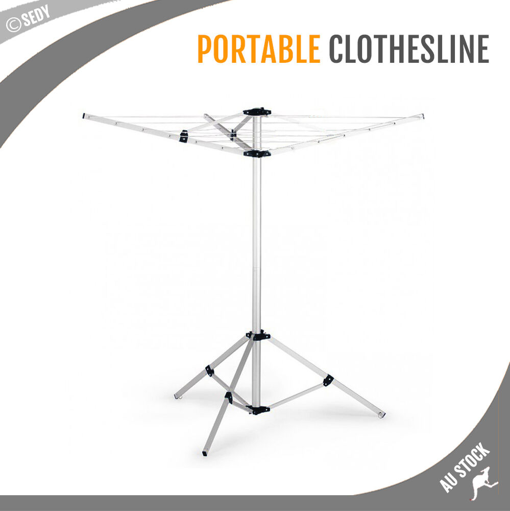 Portable Clothes Rack Tripod Camping Dryer Airer Foldable