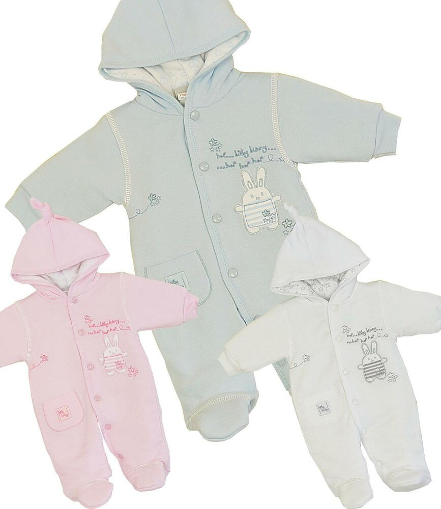 Premature preemie baby boys girls clothes pramsuit snowsuit all in one 3 5 7 5lb ebay