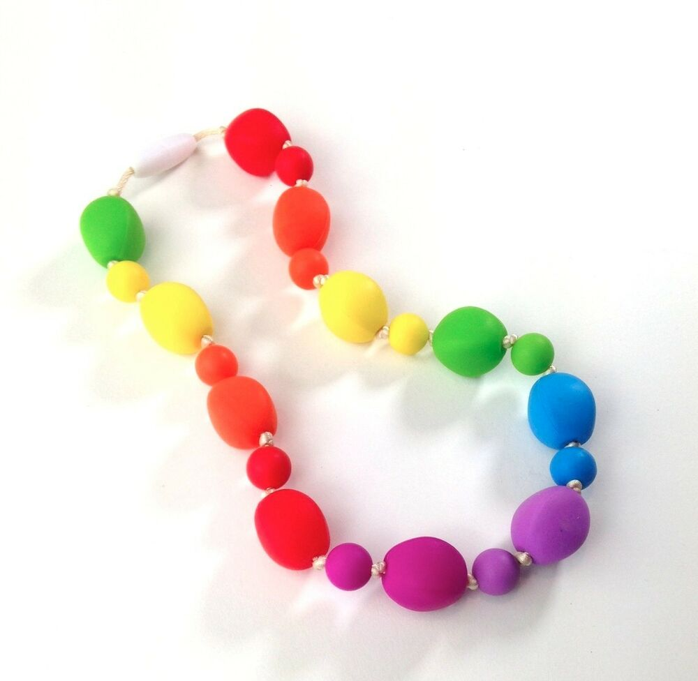 Sensory Chew Toys For Autism : Silicone chewable jewelry for oral sensory needs autism