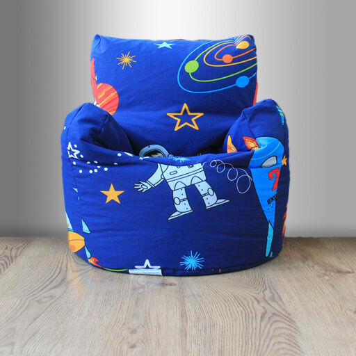Children 39 s beanbag chair space boy planet rocket kids for Kids chairs for boys