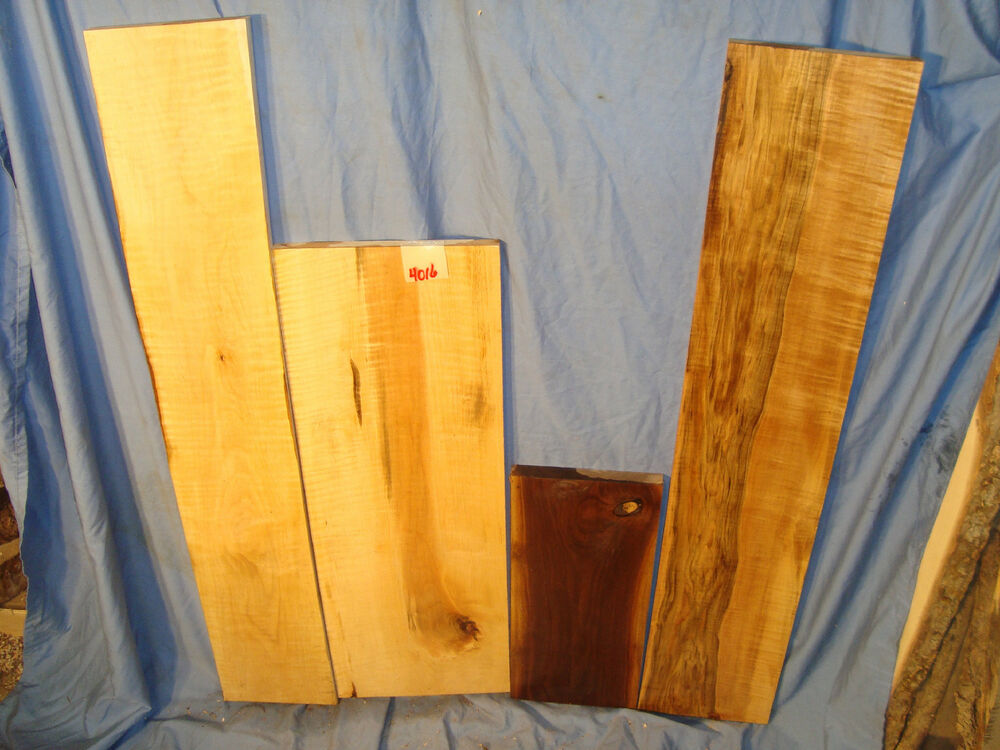 Black walnut and tiger maple boards lumber crafts wood