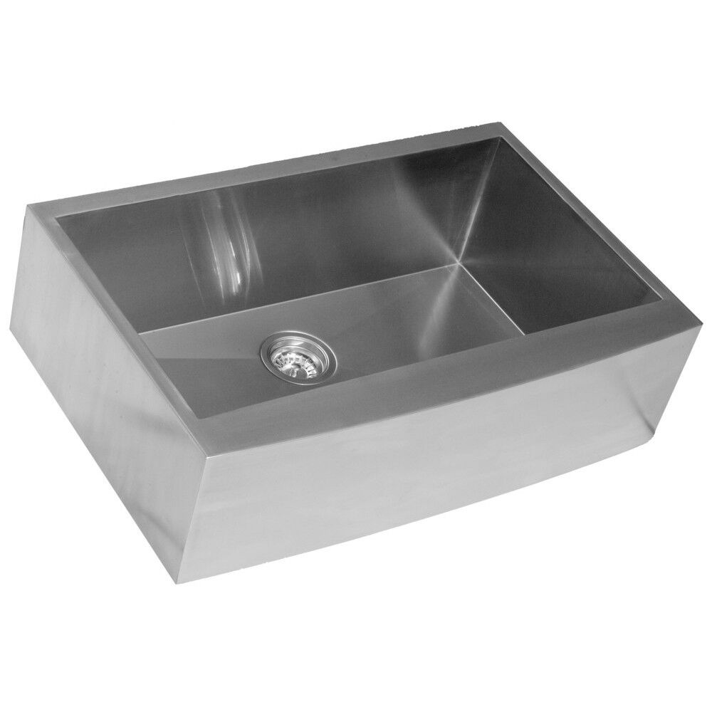 Farmhouse 33 inch stainless steel under mount kitchen sinks signle bowl 16Gau