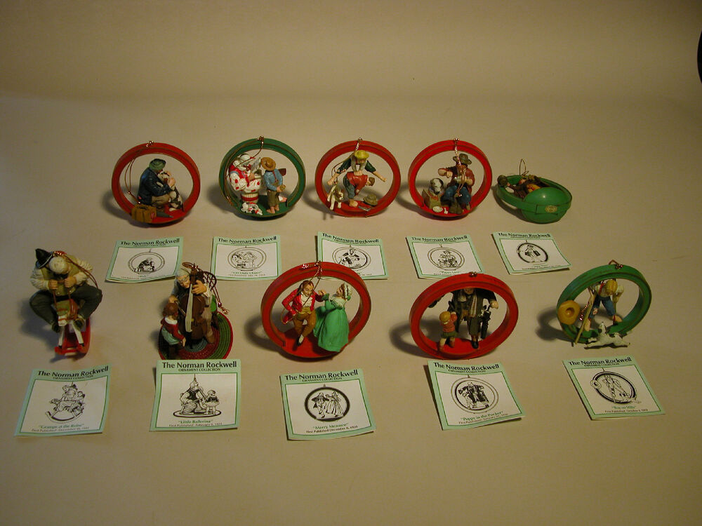 christmas norman rockwell ornament collection danbury mint