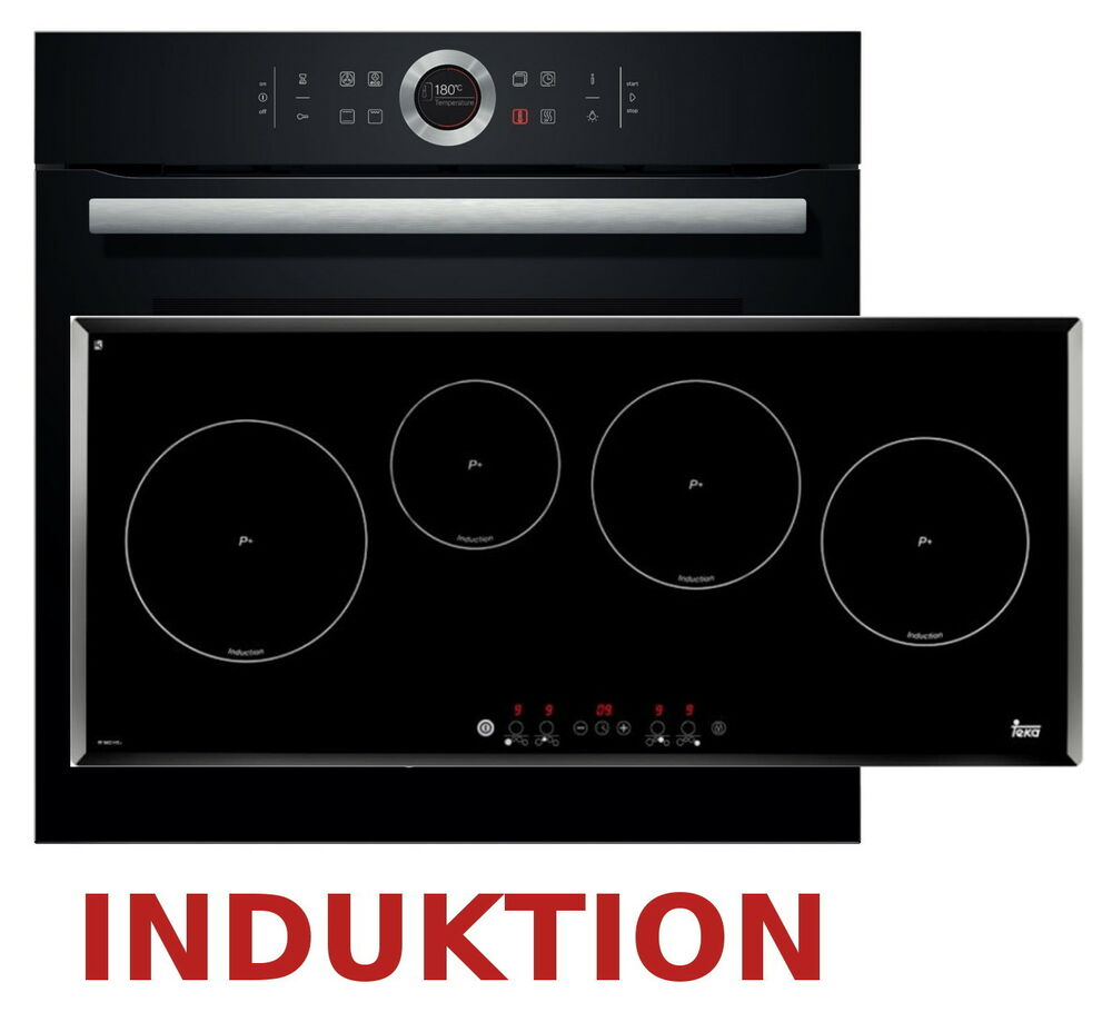 herdset induktion autark bosch backofen induktion kochfeld 90cm teka neu ovp ebay. Black Bedroom Furniture Sets. Home Design Ideas